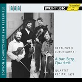 Quartet Recital 1978: Beethoven: Quartet Op. 59/1; Lutoslawski: String Quartet (1964) / Alban Berg Quartett