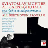 Sviatoslav Richter at Carnegie Hall: All Beethoven Program - October 19, 1960