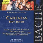 Edition Bachakademie Vol 50 - Cantatas BWV 165-168 / Rilling