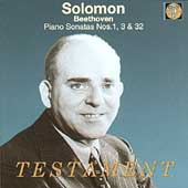 Beethoven: Piano Sonatas no 1, 3 & 32 / Solomon