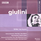 Britten: War Requiem / Giulini, Woytowica, Pears, et al