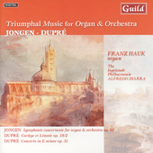 Triumph Music for Organ and Orchestra - Jongen, etc / Hauk
