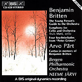 Britten: Young Person's Guide, etc;  Pärt: Cantus / Järvi