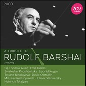 A Tribute to Rudolf Barshai, violist & conductor - featuring many never before released studio and concert recordings from 1951-2012 / Gilels, Kogan, Oistrakh, Sitkovetsky, Nikolayeva et all.  [20 CDs]