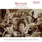 René Jacobs: The Countertenor - The Accent Recordings 1978-1982, Works by Gluck, Purcell, Telemann, J.C. Bach, Bellini, Schubert, Rossini, Beethoven / René Jacobs, countertenor; Wieland Kiujken; Konrad Junghänel; Jos van Immerseel