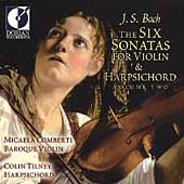 Bach: Six Sonatas for Violin & Harpsichord Vol 2 / Comberti