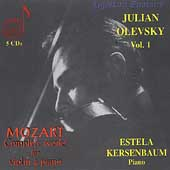 Mozart: Complete Works for Violin & Piano Vol 1 / Olevsky