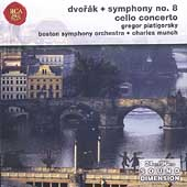 Dvorak: Symphony no 8, Cello Concerto / Piatigorsky, Munch