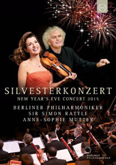 New Year's Eve Concert 2015 - French program with music by Chabrier, Saint-Saens, Massenet, Ravel, Poulenc & Brahms / Berlin PO, Simon Rattle; Anne-Sophie Mutter, violin [Blu-ray]