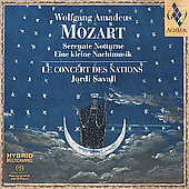 Mozart: Serenata Notturna, etc / Savall, et al