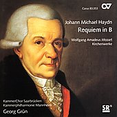 Johann Michael Haydn: Requiem in Bb, etc / Grun, et al