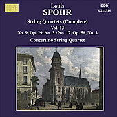Spohr: String Quartets Vol 13 / Concertino String Quartet