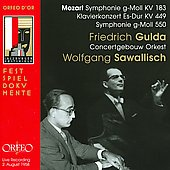 Mozart: Symphonie g-Moll KV 183; Klavierkonzert Es-Dur KV 449; Symphonie G-Moll 550