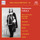 The Gigli Edition Vol. 10: Milan & London Recordings, 1938-1940