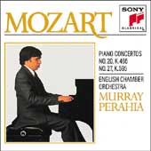 Mozart: Piano Concertos no 20 & 27 / Perahia, English CO