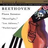 Beethoven: Piano Sonatas - Moonlight, Les Adieux, Pathétique