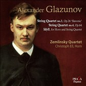 Glazunov: String Quartets Nos.3 & 4 / Zemlinsky Quartet, Christoph Ess