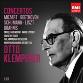 Concertos by Mozart, Beethoven, Schumann, Liszt, Brahms / Barenboim, Fischer, Oistrakh. Otto Klemperer