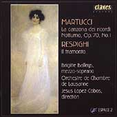 Espace 2 - Martucci: La canzona dei ricordi, etc;  Respighi