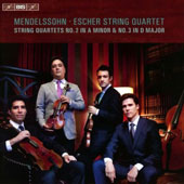 Mendelssohn: String Quartets Nos 2, Op. 13 & 3, Op. 44/1; Four Pieces for String Quartet, Op. 81 / Escher String Quartet