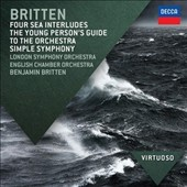 Britten: Four Sea Interludes; The Young Persons' Guide to the Orchestra; Simple Symphony / Benjamin Britten, LSO; English Chamber Orchestra