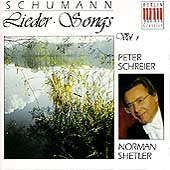 Schumann: Songs Vol 1 / Peter Schreier, Norman Shetler