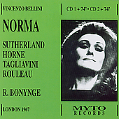 Bellini: Norma / Bonynge, Sutherland, Horne, et al