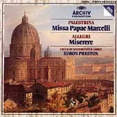 Palestrina: Missa Papae Marcelli;  Allegri / Preston