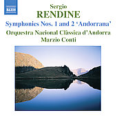 Rendine: Symphonies no 1 & 2 / Conti, Andorra National State Classical Orchestra