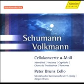 Schumann: Cello Concerto /  Peter Brun