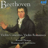 Beethoven: Violin Concerto, Violin Romances / Ronald Thomas