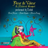 Fleur de Valeur: A Medieval Bouquet / Drew Minter, countertenor, harp & percussion; Mark Rimple, countertenor, lute, gittern & citole; Marcia Young, soprano