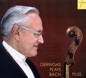 Geringas Plays Bach Plus - solo cello works by J.S. Bach, Corigliano, Gubaidulina, Krenek, Vasks / David Geringas, cello