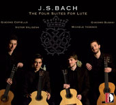 J.S. Bach: The Four Suites for Lute / Giacomo Susani, guitar; Victor Valisena, guitar; Michele Tedesco, guitar; Giacomo Copiello, guitar