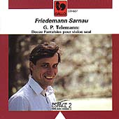 Telemann: 12 Fantasias for Violin / Friedemann Sarnau
