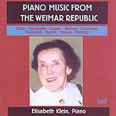 Piano Music From the Weimar Republic / Elisabeth Klein