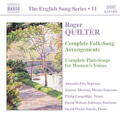 The English Song Series 11 - Quilter: Folk-Song Arrangements