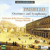 Paisiello: Overtures & Symphonies / Mazzola, Swiss Italian Orchestra