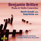 Britten: Piano and Violin Concertos / Annette Servadei, piano; Sergej Azizian, violin