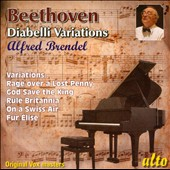 Beethoven: Diabelli Variations; Fur Elise; Rage over a Lost Penny / Alfred Brendel, piano