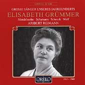 Grosse S&#228;nger Unseres Jahrhunderts - Elisabeth Gr&#252;mmer