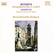 Rossini: String Sonatas 1-3, etc / Rossini Ensemble