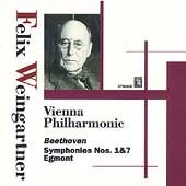 Beethoven: Symphonies no 1 & 7, etc / Weingartner, Vienna PO