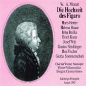 Mozart: Die Hochzeit der Figaro /Krauss, Kunz, Bielke, et al