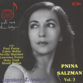 Legendary Treasures - Pnina Salzman Vol 3 / Salzman, Mehta
