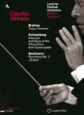 Brahms: Tragic Overture; Schoenberg: Song of the Wood Dove; Beethoven: Symphony No. 3 / Mihoko Fujimura, mz; Abbado (live 2013) [DVD]