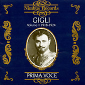 Prima Voce - Beniamino Gigli Vol 1 1918-1924