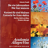 Vivaldi: Four Seasons, etc / Bijan Khadem-Missagh, et al