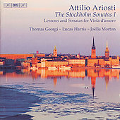 Ariosti: Stockholm Sonatas Vol 1 / Thomas Georgi, et al