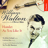 Walton: Hamlet, As You Like It / Marriner, Gielgud, et al